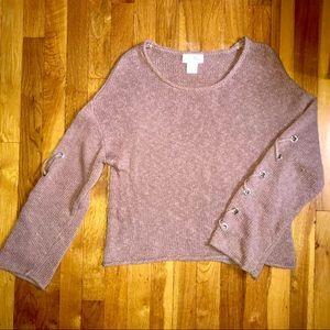 Shrinking Violet Dusty Rose Sweater